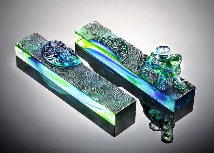 <p> 琉璃工房以脱蜡铸造技术,完整呈现沧州极具代表性的铁狮子。以琉璃的光和色彩来赞美、敬仰百兽之王。 </p>